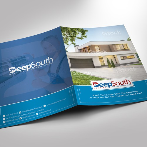 Half Fold or Bi-fold Marketing Brochure