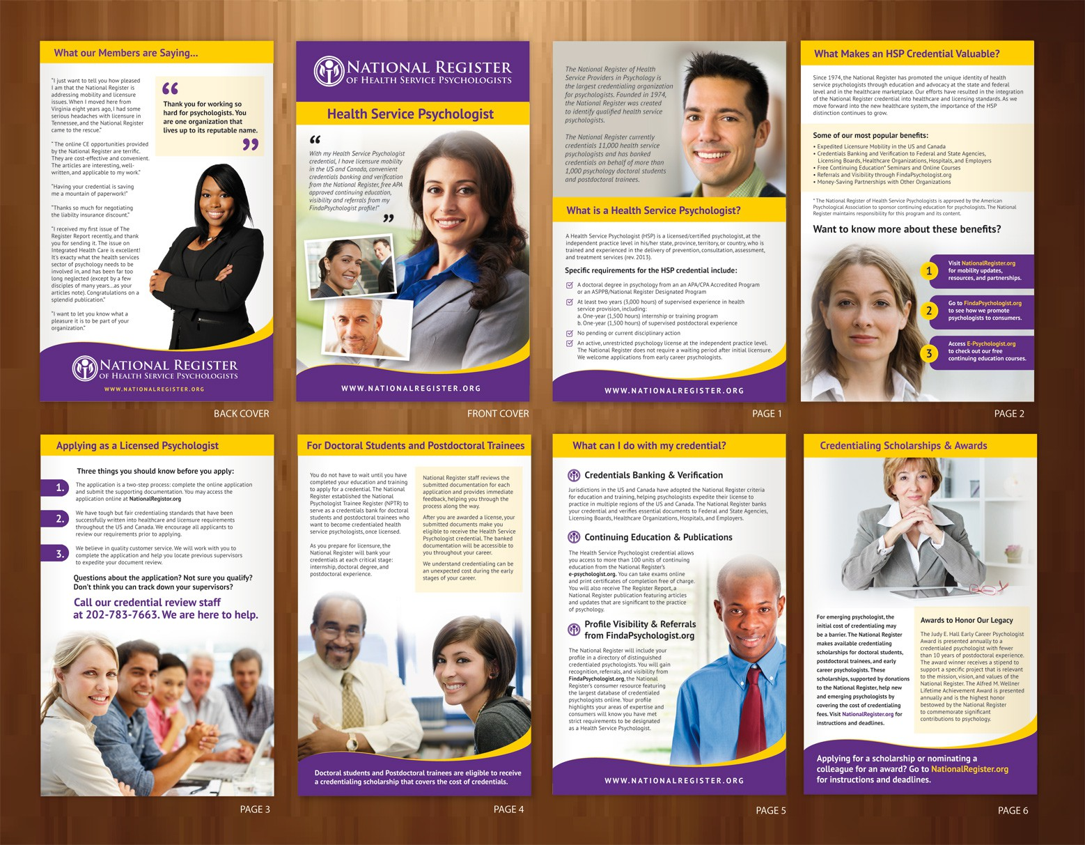 National Register of Health Service Psychologist needs a new brochure design