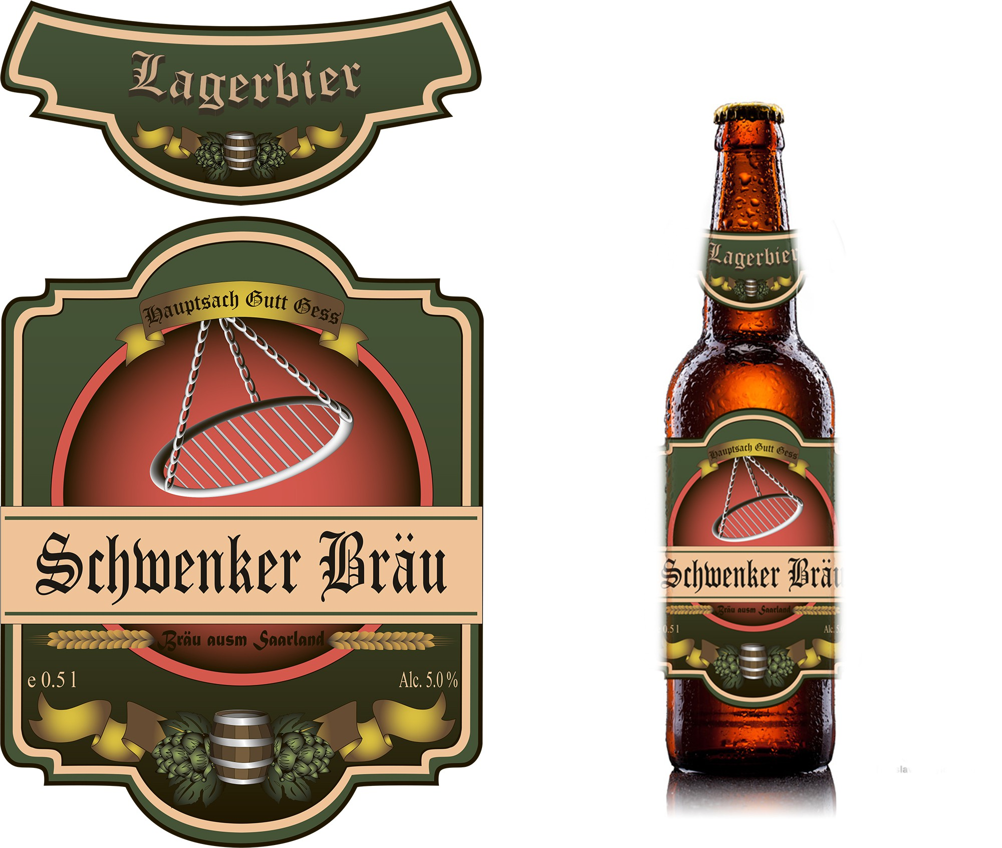 Schwenker Bräu benötigt product label