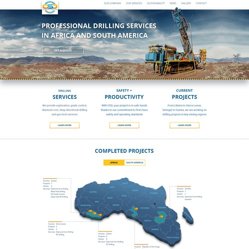 Oresearch Drilling - Website Redesign
