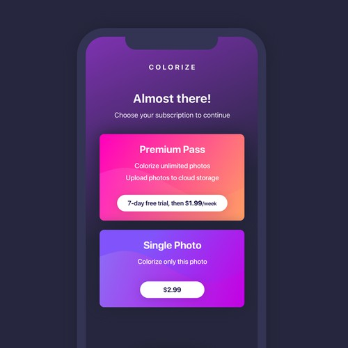 App contest design entry