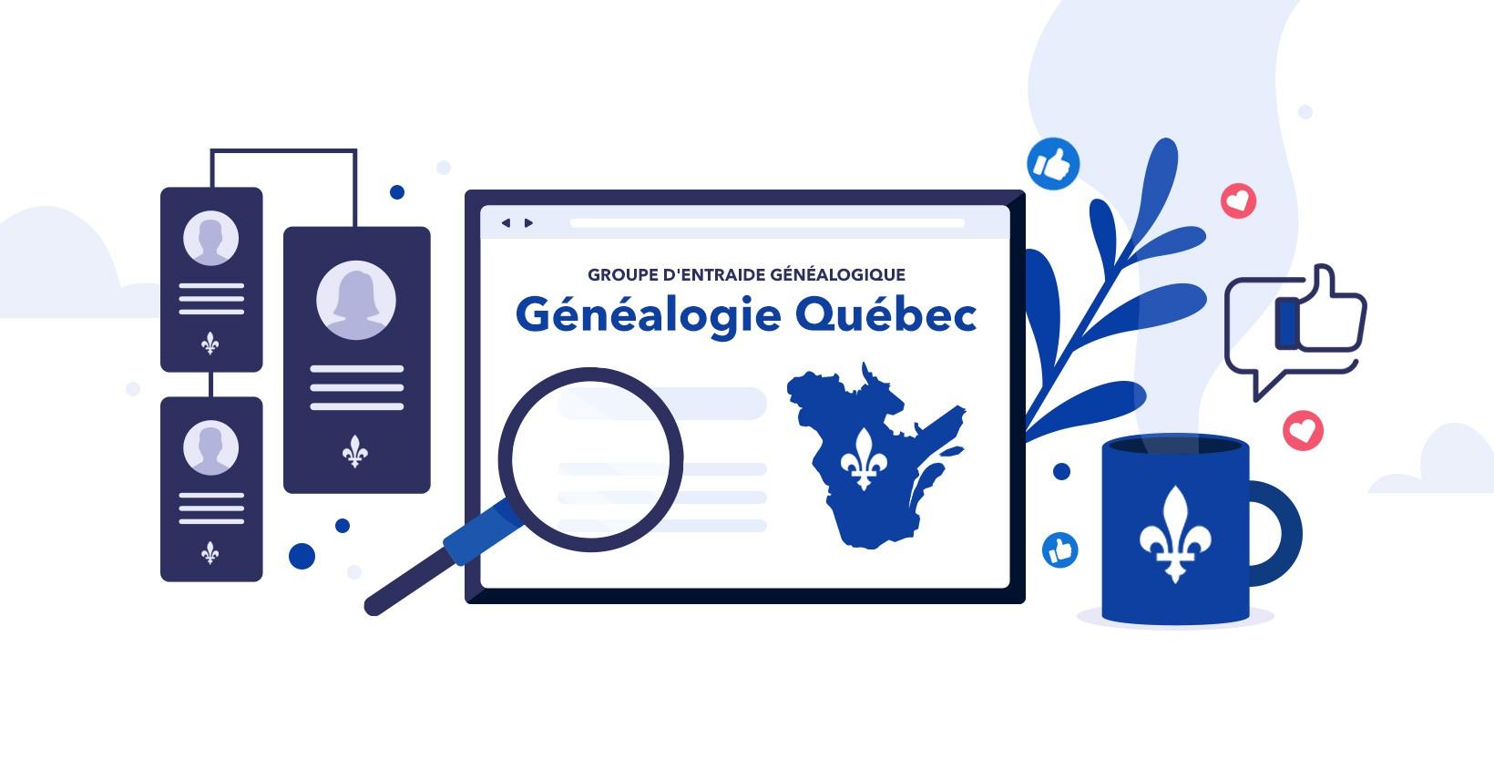 Généalogie Québec, Facebook landing image