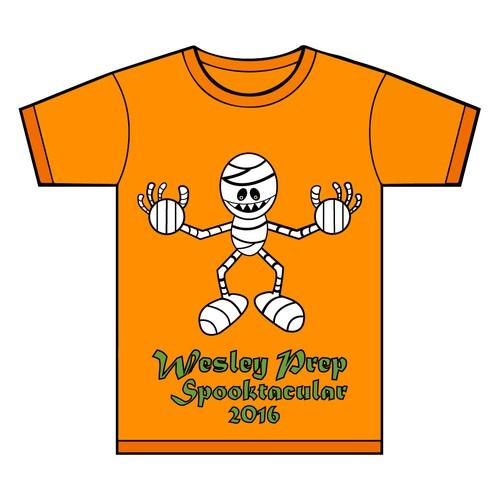 Wesley Prep Halloween t-shirt design.