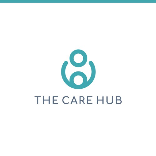 Modern and abstract care logo