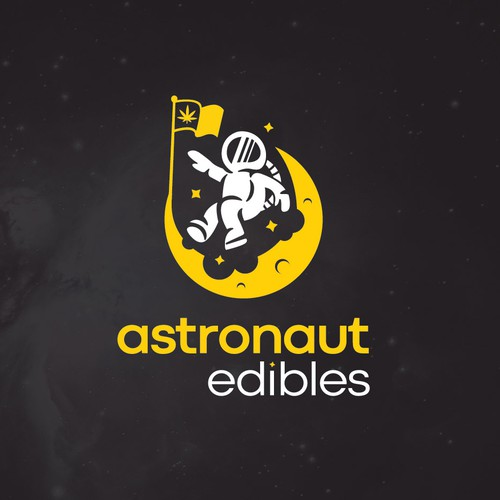 Astronaut and Moon Logo Design