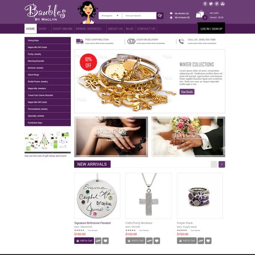 New eCommerce website for Baubles Babe! (www.baublesbabe.com)