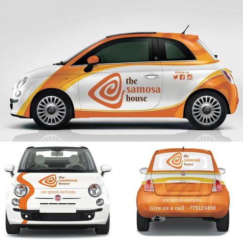Car Wrap for Samosa Restaurant