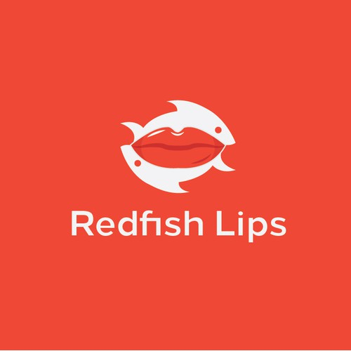 Redfish Lips Logo Concept