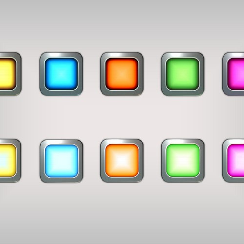 Colored tiles for iPhone puzzle game
