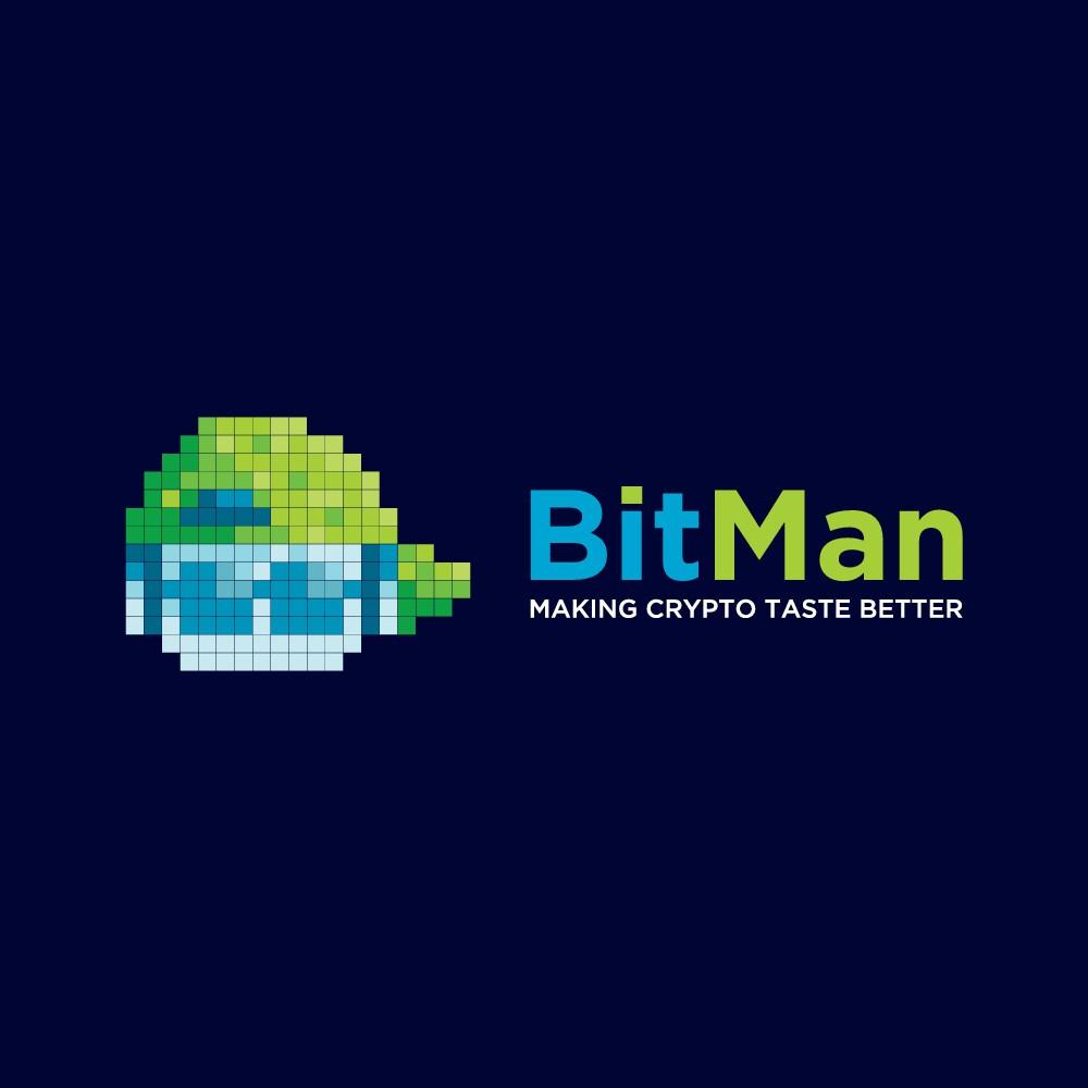 Create a minimalist logo for BitMan