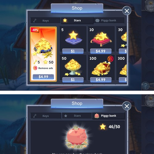 Game UI Screen Design
