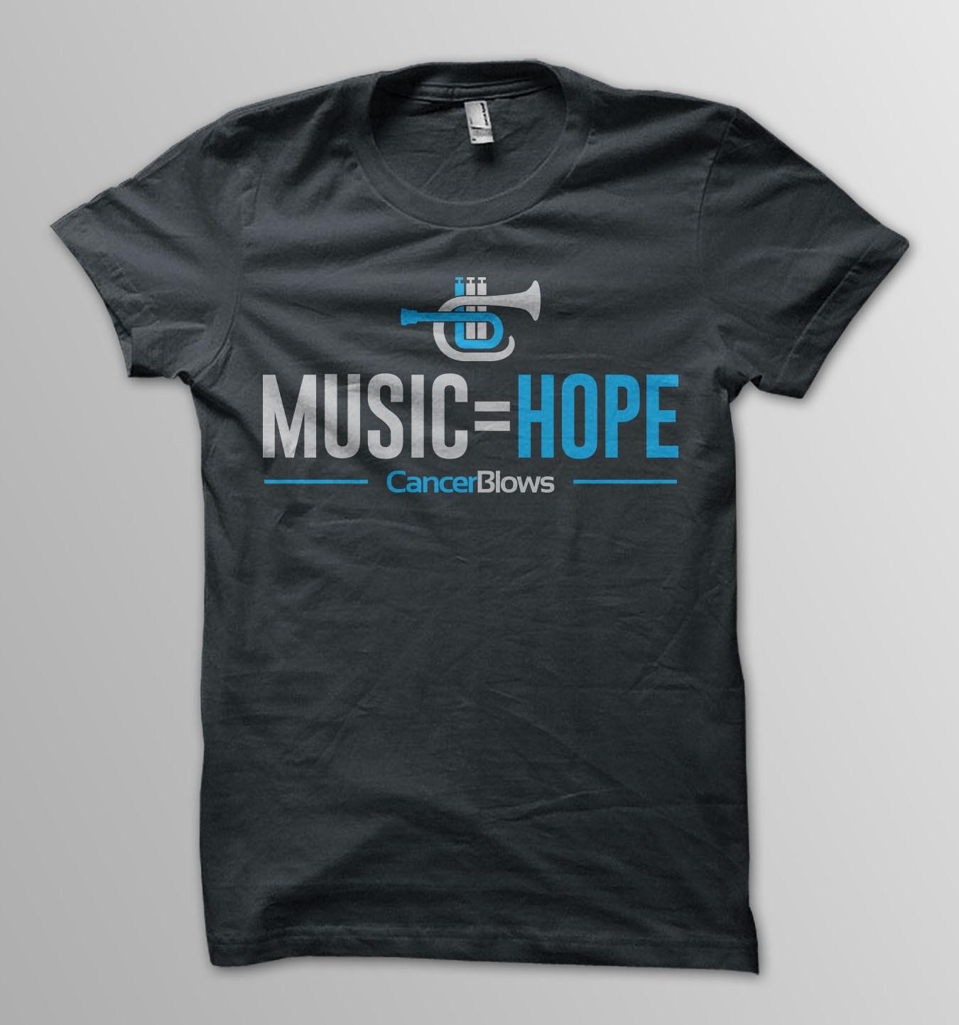 Design CancerBlows music=hope t-shirt!
