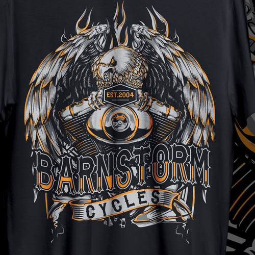 TSHIRT DESIGN FOR BARNSTORM MOTORCYLE