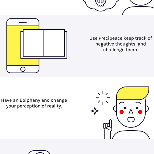 Illustrations for a mental health app