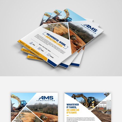 Marketing Brochure for a Contracting company