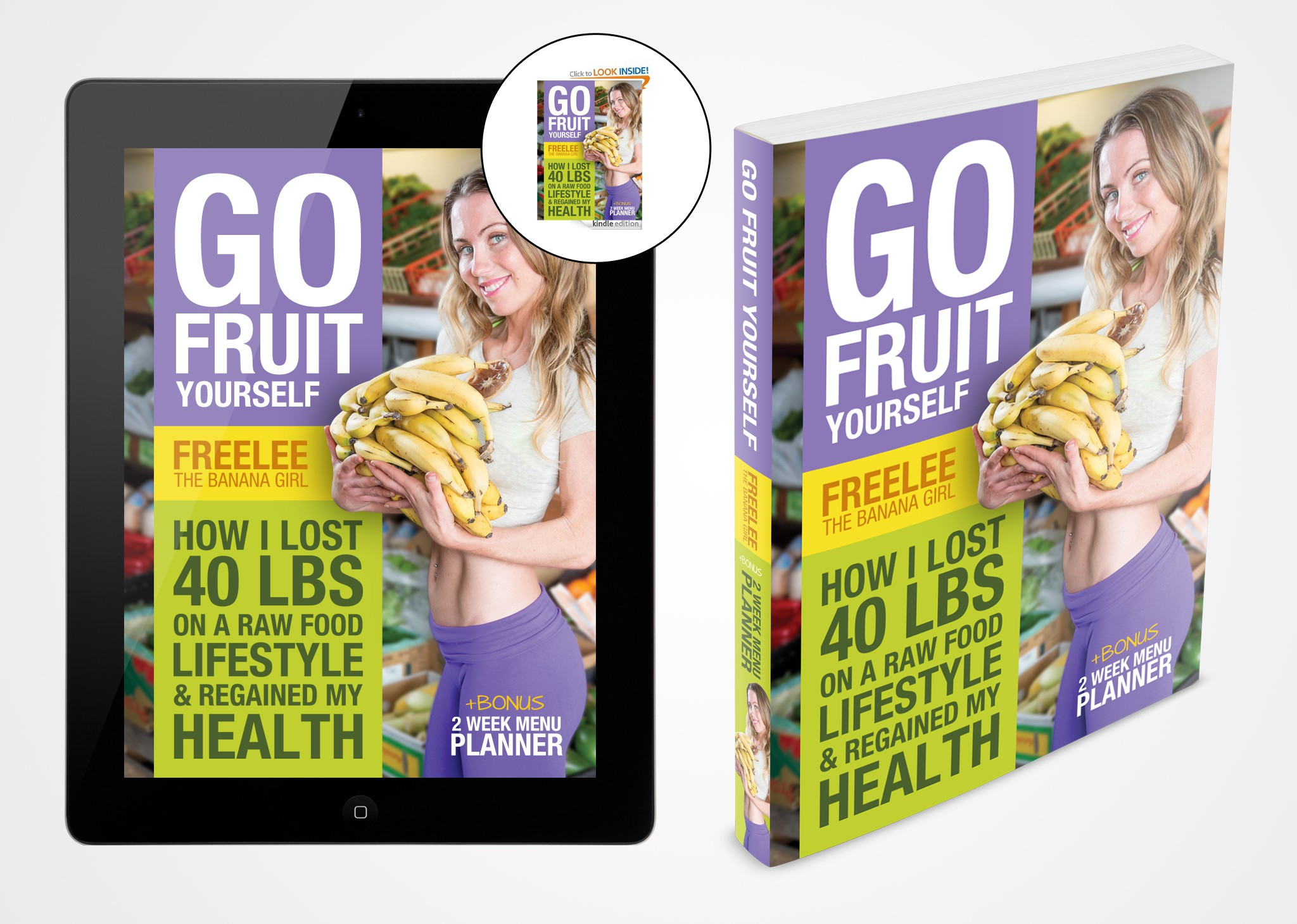 Health and weight loss book cover design