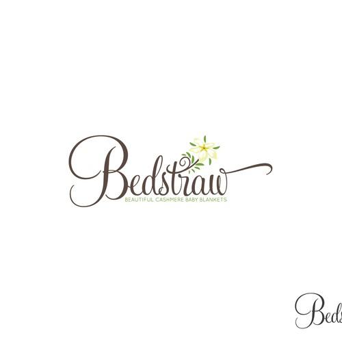 Elegant logo concept for baby blankets