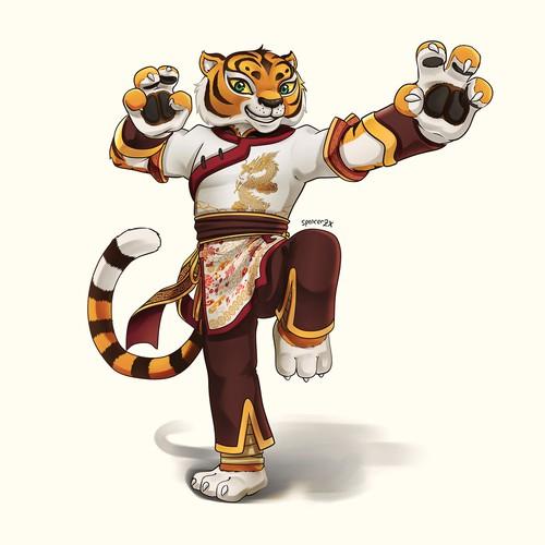 Kung-fu Tiger Character design