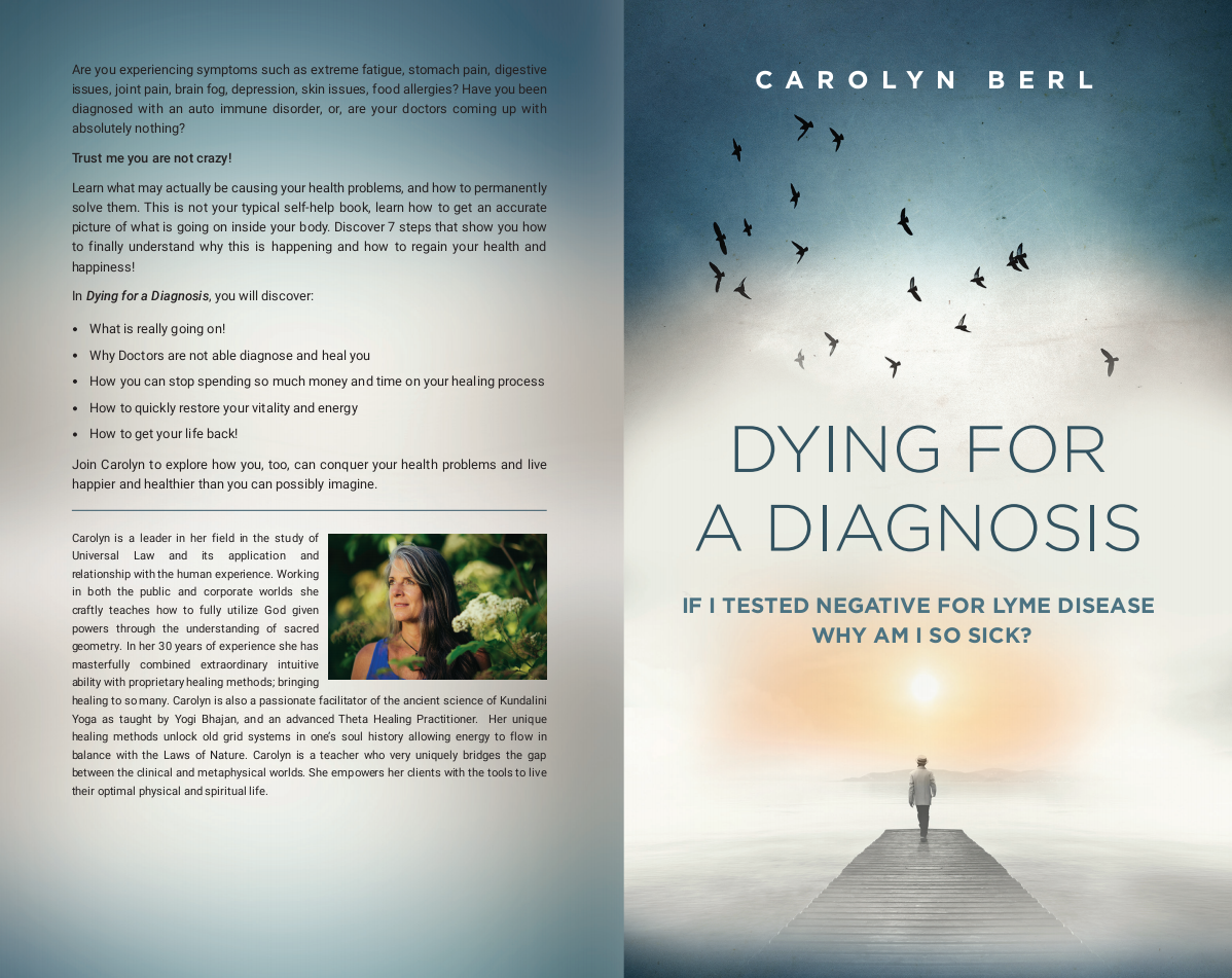 book cover for a self help book called dying for a diagnosis
