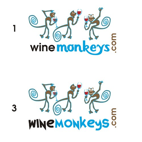 wine monkeys logo