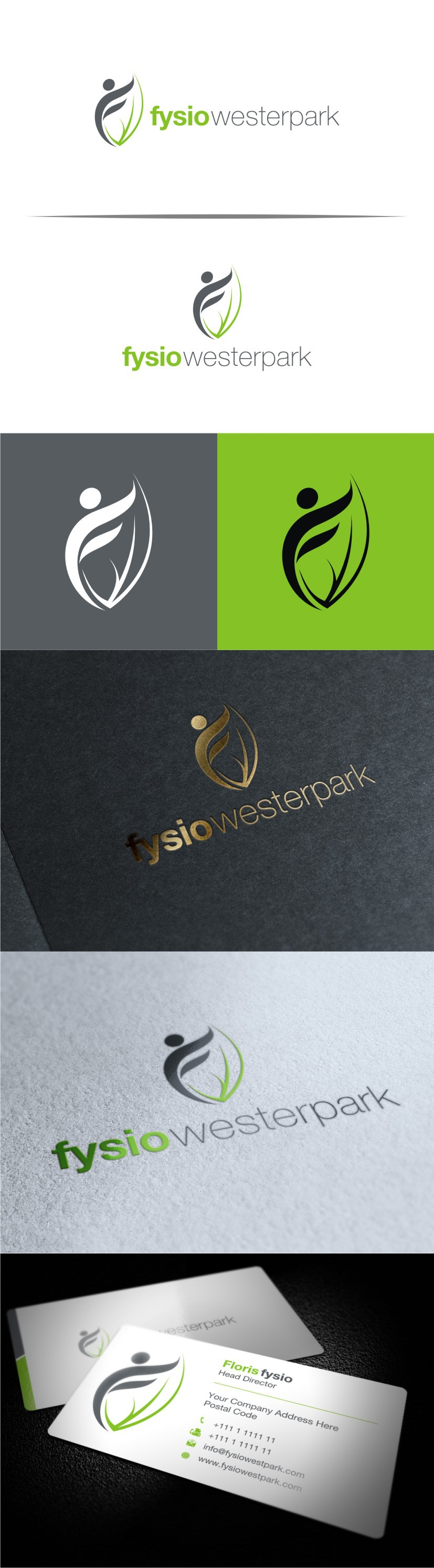 Create a fabulous and simple logodesign for Fysio Westerpark, about moving freely,