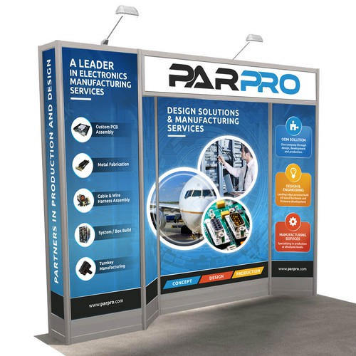Attractive Trade Show Booth Design for technology compay