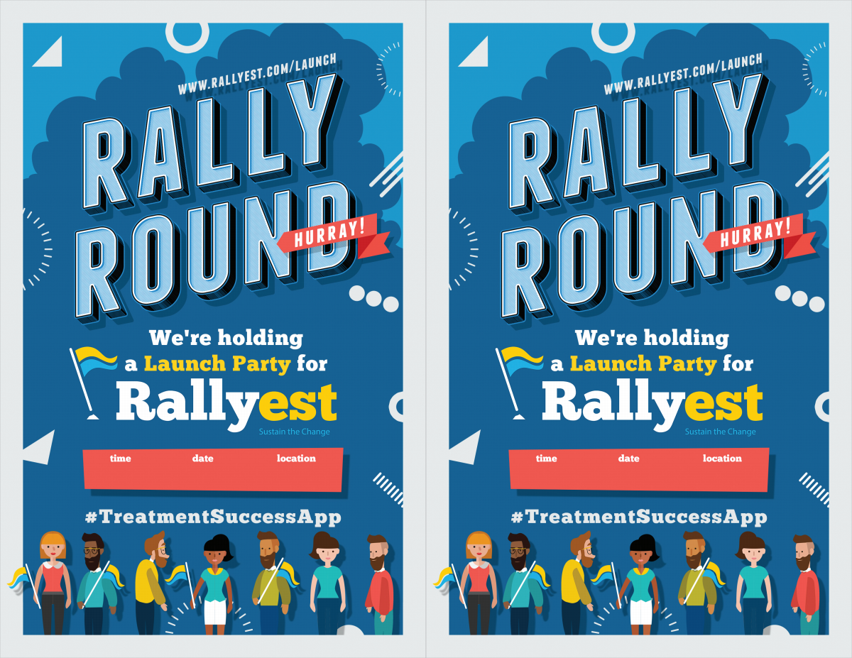 Rallyest Launch Party Invite Poster and Invitation