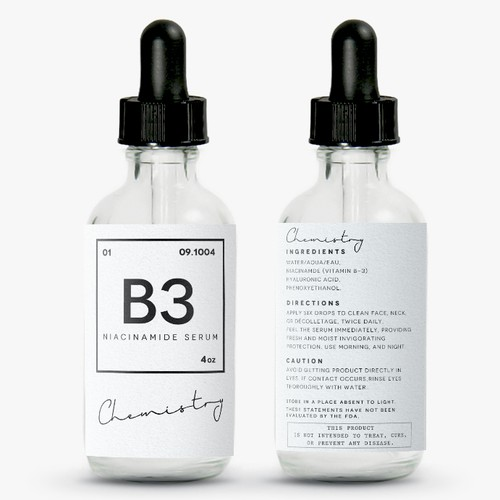 Chemistry inspired beauty label