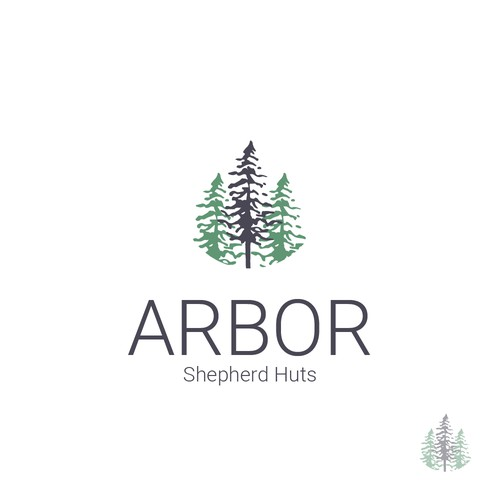 Logo suggestion for Arbor Shepherd Huts