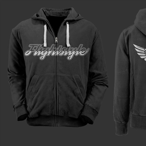 Create a signature hoodie or t-shirt for a new aviation apparel company!
