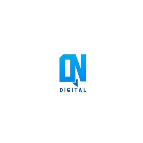 Simple logo for OnQ Digital