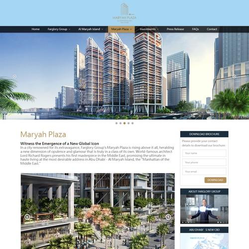 Internal page with sidebar