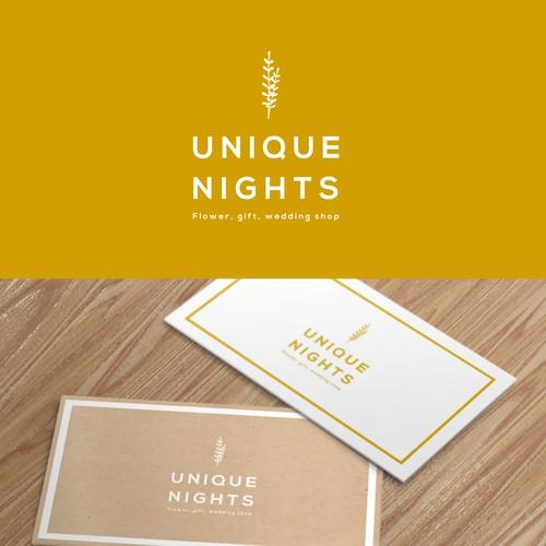 Logo design for flower, gift, wedding shop
