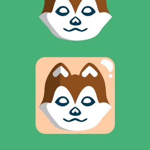 Design a icon / main character for a mobile app (Dog Related)