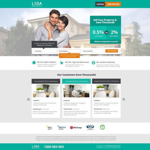 Progressive Real Estate Landing Page - Creative Freedom & GUARANTEED!