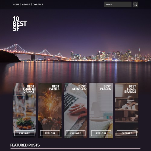 an Elegant and Clear City Guide Website