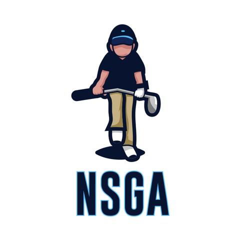 NSGA Golf Mascot
