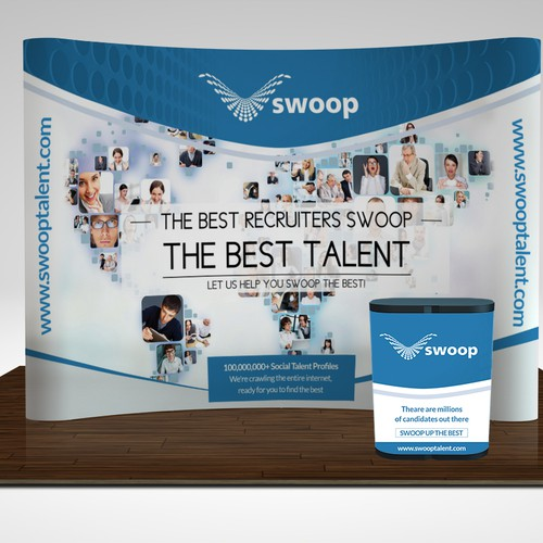 Create the Trade show booth for SwoopTalent