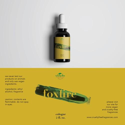 Label design for a vegan cologne