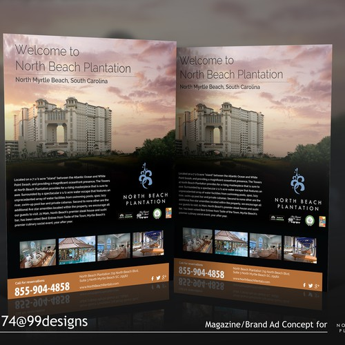A Magazine/Brand Ad Concept, North Beach Plantation, A Resort In North Myrtle Beach, SC