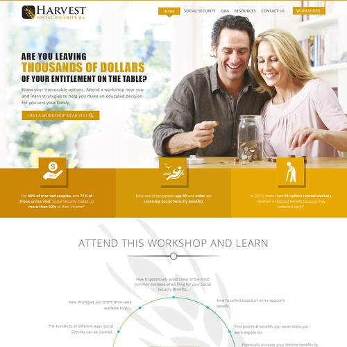 Website design for Harvest
