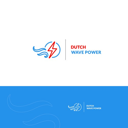 Logo design for Dutch Wave Power