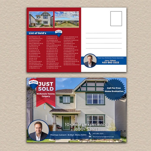 Postcard design for RE/MAX (with postage area)