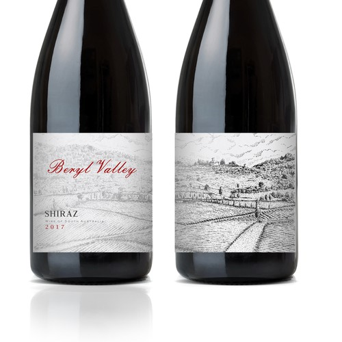Beryl Valley label design