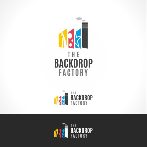 Logo for a company which makes custom backdrops