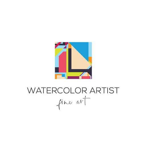 Logo for a watercolour artist