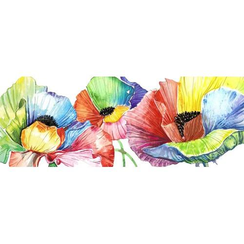 watercolor popies
