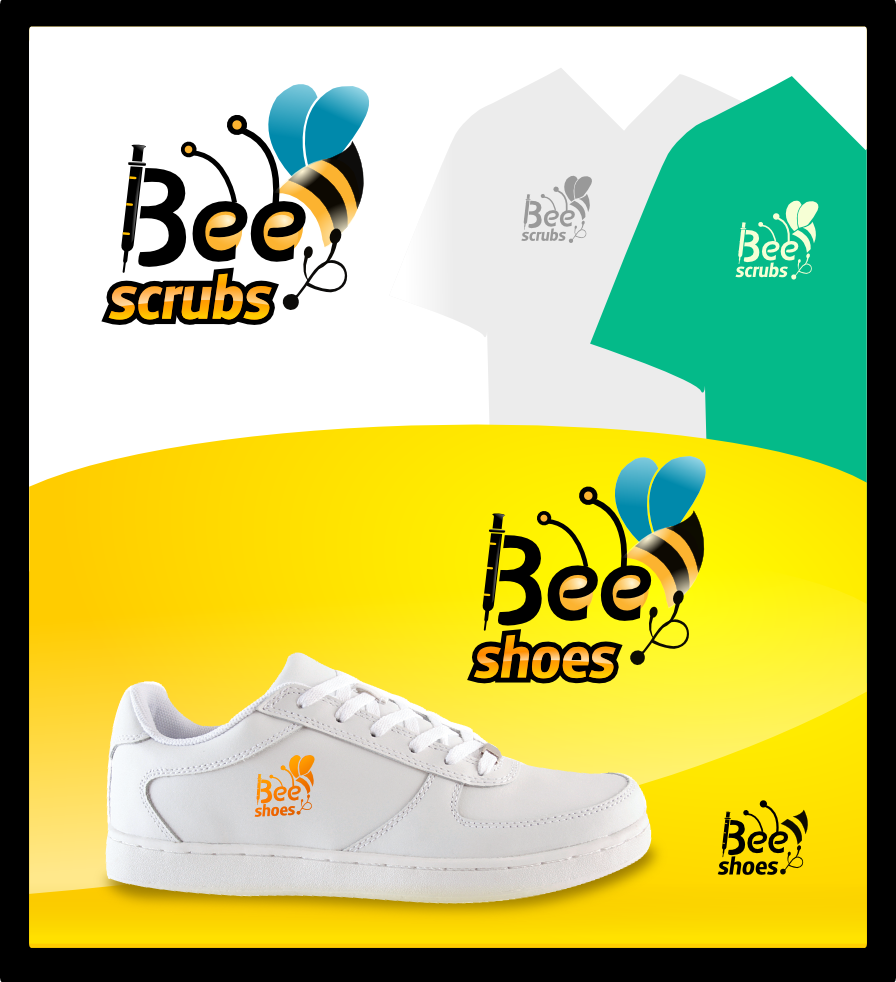New logo wanted for Bee Scrubs , Bee Shoes