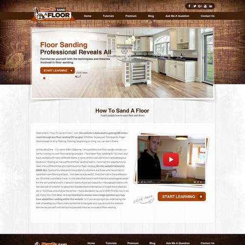 Wood Flooring Company Website Design