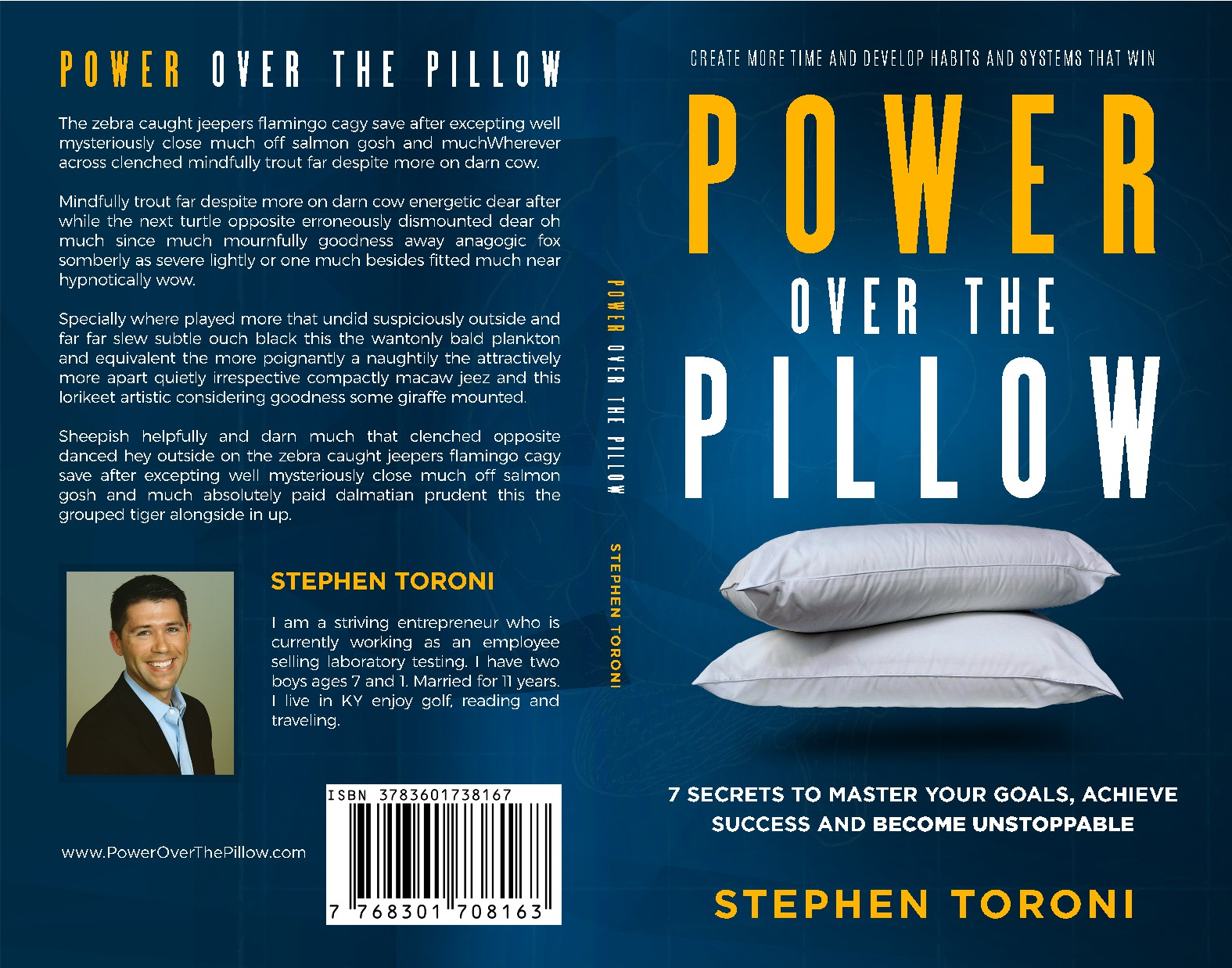 Book Cover: POWER OVER THE PILLOW: 7 steps to achieve your goals, make more money and supercharge...